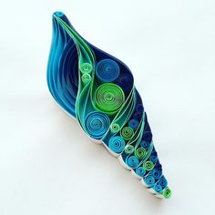 spiral seashell quilling