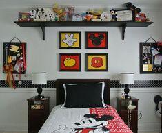 La chambre Mickey Mouse retro