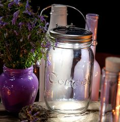Consol Solar Jars - available at Springlights  http://www.springlights.net   - great for power outages, wedding decor and outdoor lighting