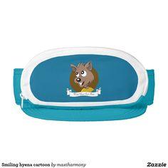 Smiling hyena cartoon visor