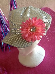Girls Pink Black Hot Pink or Silver Sequin Hats by partiesandfun, $5.50