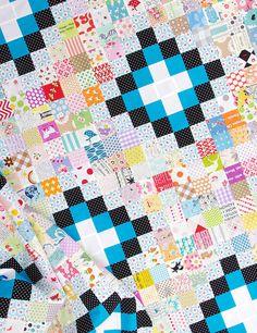 Irish Chain Scrap Buster Quilt II - Work in Progress | Red Pepper Quilts 2015
