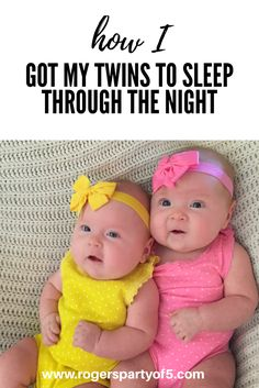 Tips on how I got my twins to sleep through the night by 14 weeks! Read about how you can also follow the eat, play, sleep routine to get a full night sleep