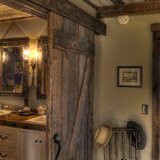 rustic bathroom by Lands End Development - Designers  Builders