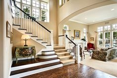 love the placement of the stairs