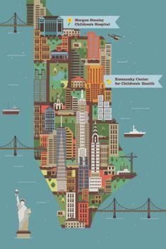 Made By Radio - NY Children's Hospital map