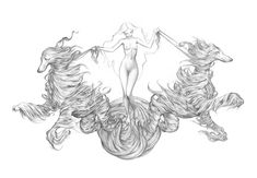 James Jean - Black Dog pencil drawing  (Would make such an awesome chest tattoo)