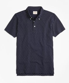 The Red Fleece CollectionThis polo shirt features a durable cotton pique construction with a printed micro-dot pattern.