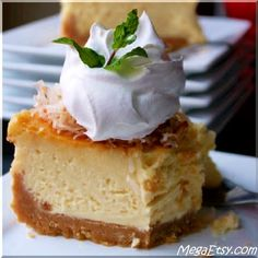 Coconut Cream Pie Cheesecake with Coconut Cookie Crust