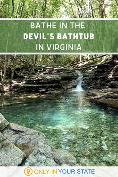 This magical waterfall swimming hole is one of the most beautiful places in Virginia. Located in the southwest part of the state, the secluded Devil's Bathtub requires a short hike to visit but it's worth it. | Natural Swimming Holes | Hidden Places | Things To Do | Outdoors Vacation Places, Dream Vacations, Vacation Spots, Places To Travel, Places To See, Vacation Ideas, Texas Travel, Travel Usa, Travel Local