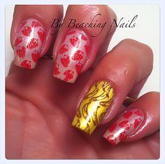 Strawberry-Banana Nail Art