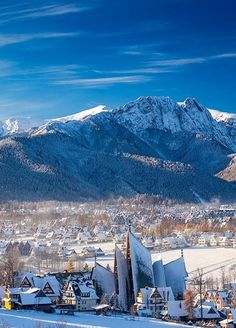 Located at the foot of the Tatra Mountains, Zakopane is Poland's best-known mountain resort. With streets and rooftops that are especially picturesque when covered in snow, Zakopane is probably one of the most incredible places to go for Christmas. Cool Places To Visit, Places To Travel, Polish Mountains, Zakopane Poland, Visit Poland, Tatra Mountains, Poland Travel, Travel Pictures, Wonders Of The World