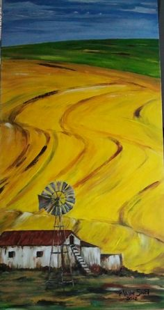 Overberg by Martie Smit - Acrylic on canvas