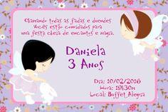 Convite digital personalizado Fadas 004