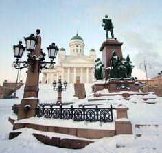 Tuomiokirkko, view from my favorite spot. #Finland #Helsinki #Churches