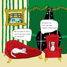 Funny snob/posh/rich cats greetings or birthday card (& funny interview) on Etsy, £1.50