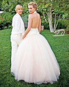 Vogue Wedding - our favorite couples: Ellen DeGeneres & Portia de Rossi. Click on the image to see more.