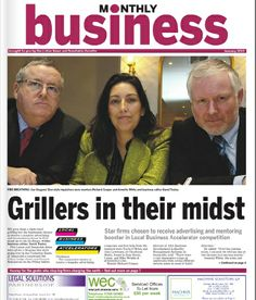 Annette White supporting local paper - Business Monthly with a Small Business Mentoring Programme