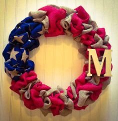 HOW adorable would this look on YOUR front door? OR do you have someone in your family or possibly a friend that serves for our Country?? What