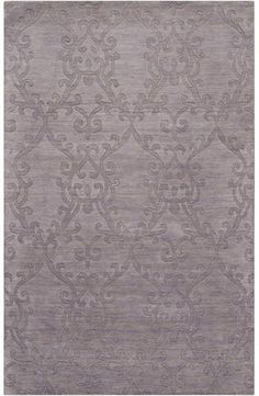 Love this Surya Lilac Mist Area Rug, which will go well with my diy upholstered dk. purple velvet antiques chairs & grey décor in living room :)