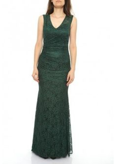 V-Ausschnitt Designer Meerjungfrau Abendkleid Grün