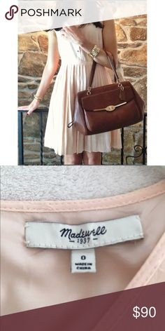 Madewell pleated dress Blush color. Excellent condition like new Madewell Dresses Midi