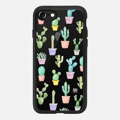 Watercolour pastel cactus hot summer by imushstore - Classic Grip Case