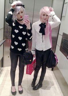 Two Pink Pastel Girls #Gothic Pinterest: @erikaevans5245