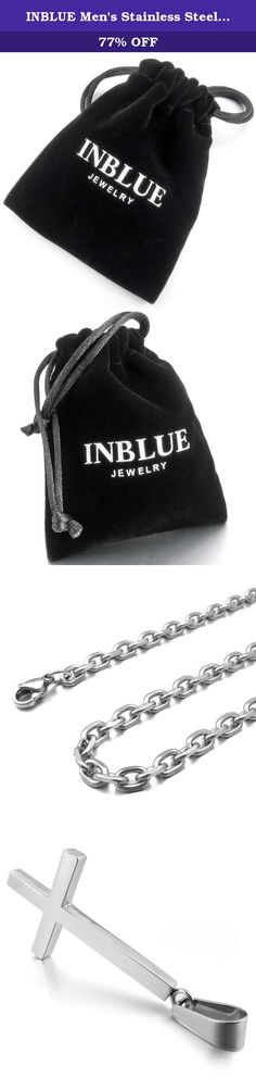 INBLUE Men's Stainless Steel Pendant Necklace Silver Tone Down Inverted Cross -with 23 inch Chain. INBLUE - High quality Jewelry Discover the INBLUE Collection of jewelry. The selection of high-quality jewelry featured in the INBLUE Collection offers Great values at affordable Price, they mainly made of high quality Stainless Steel, Tungsten, Silver and Leather. Find a special gift for a loved one or a beautiful piece that complements your personal style with jewelry from the INBLUE...