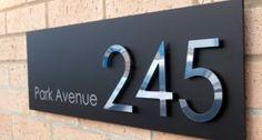 Sorrento designer house number plaque by plasticrepublic.co.uk