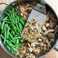 Green Bean and Mushroom Chicken Skillet