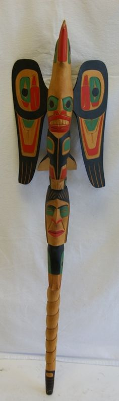 Canadian Indian Art - Eagle Talking Stick bu Darren Yelton