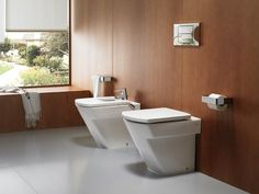 Download the catalogue and request prices of bidet Hall | bidet, design Ramón Benedito, Hall collection to manufacturer Roca