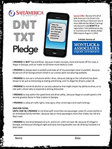 Download Our Safe Driver Pledge Form  Montlick  Associates