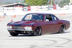 JB Granger was definitely thinking outside the box, when he built this LS-powered '66 Chevy Corvair on JRi Shocks, Baer Brakes, and BFGoodrich Tires g-force Rivals on 18-inch Forgeline DE3P wheels finished with Satin Black centers and Transparent Smoke outers! See more at: http://www.forgeline.com/customer_gallery_view.php?cvk=1531  #Forgeline #DE3P #notjustanotherprettywheel #madeinUSA #Chevy #Chevrolet #Corvair #SEMA2015