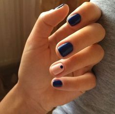 Manicure short nails shellac simple Ideas for 2019 Nail Art Designs, Shellac Designs, Black Nail Designs, Short Nail Designs, Nails Design, Short Nails Shellac, Dark Nails, Blue Nails, Color Nails