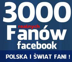 3000  fanów Facebook, fanpage, Lubię To !  Like SUPER CENA !