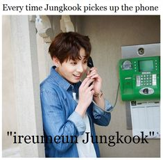 Jungkook on the phone