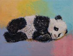 Panda Painting - Baby Panda Rainbow by Michael Creese Nature Paintings, Your Paintings, Animal Paintings, Panda Painting, Hugs And Cuddles, Canvas Prints, Art Prints, Big Canvas, Panda Art