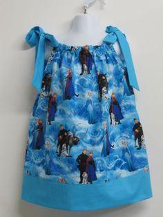 Frozen Childrens Pillowcase Dress by AquamarsBoutique on Etsy