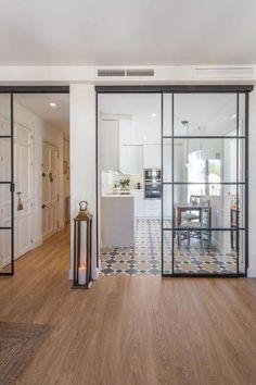 Home Design-Ideen: Home Decorating Ideas Küche Home Decorati Inexpensive Flooring, Home, House Styles, Kitchen Design, House Design, New Homes, House Interior, Home Deco, Sliding Door Design