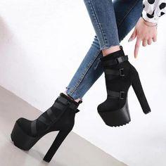 Super High Heels, Black High Heels, High Heels Stilettos, Black Shoes, Pumps, Dr Shoes, Cute Shoes, Me Too Shoes, Shoes Heels
