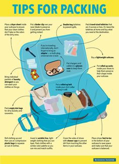 Tips for Packing #infographic #Travel #Packing
