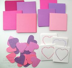 DIY Kids Valentines - Make Your Own Valentines Kit - (1302 - Pink & Purple Glitter - Qty 24) by AcarrdianCards on Etsy