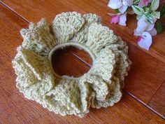 森ガール風ダブルフリルシュシュ♪の作り方|編み物|編み物・手芸・ソーイング|アトリエ|手芸レシピ16,000件!みんなで作る手芸やハンドメイド作品、雑貨の作り方ポータル