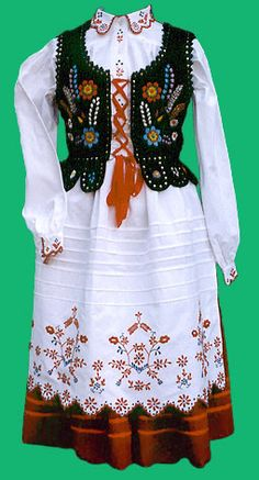 Polish traditional costume - Rzeszow region of Poland