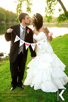 Wedding Flags and Banners Personalized | Custom Wedding or Engagement Pennant Banner Photo Prop - Any Word