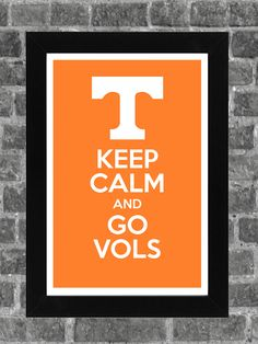 Keep Calm Tennessee Vols NCAA Print Art 11x17.