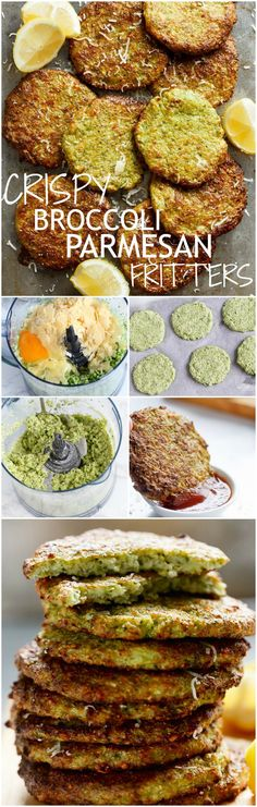 Crispy Broccoli Parmesan Fritters -- baked instead of fried -- is a great way to deliciously stash veggies for both children and adults! Veggie Fritters, Broccoli Fritters, Fried Broccoli, Parmesan Broccoli, Baby Food Recipes, Keto Recipes, Vegetarian Recipes, Cooking Recipes, Healthy Recipes
