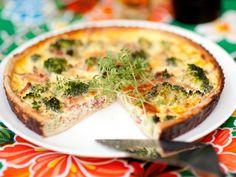 Quiche met broccoli en spekjes - Libelle Lekker!